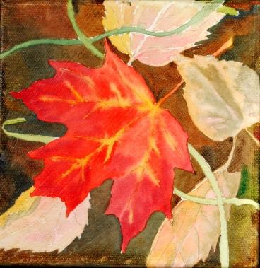 Fallen Leaf - Susan Watson, Watercolour on canvas