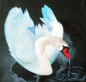 White Beauty - Sue Dyment, Acrylic
