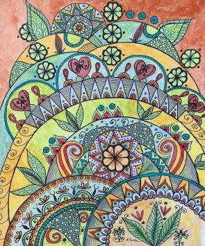 BKerton - mixed media doodle