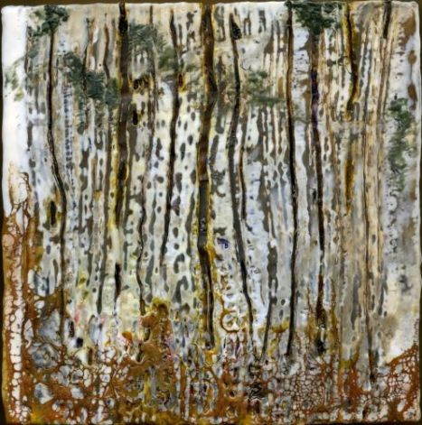can't see the forest for the trees (encaustic)