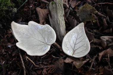 Leaf imprint dishes