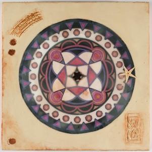 mandala dreaming (encaustic)