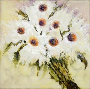 sprinkle kindness like wildflowers (encaustic)
