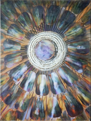 through the looking glass (encaustic)